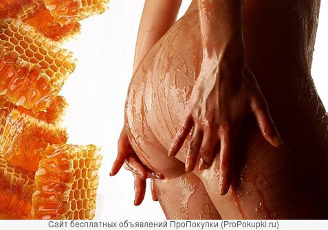 антицеллюлитный медовый массаж ( бёдра, живот, ягодицы, бока )