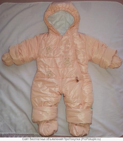 Зимний комбинезон для девочки с рождения до 1,5 лет