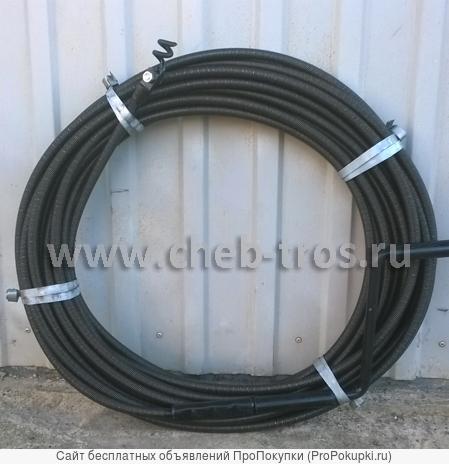 Сантехнические тросы для канализации ТС-6-20 диаметр L-5-40 м