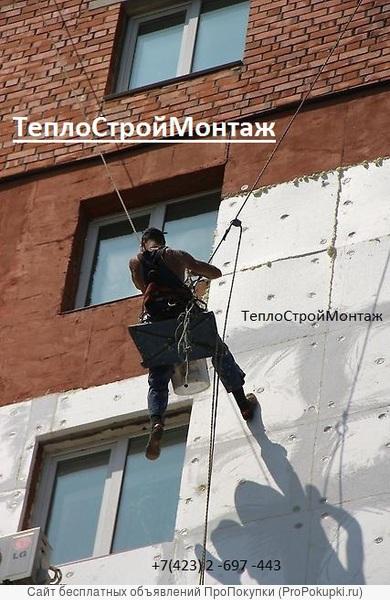 Фасадные работы. Цены на ремонт фасадов зданий. Покраска фасада.