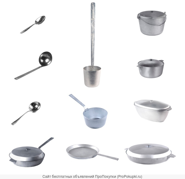 Алюминиевая литая посуда