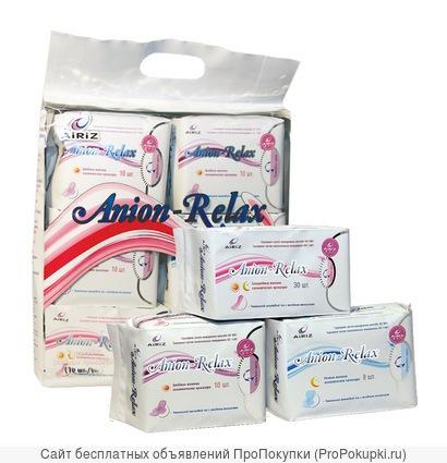 Женские лечебно-оздоровительные прокладки «Anion-Relax» AiRiZ