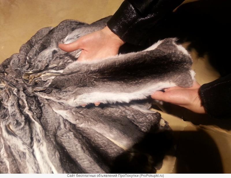 Мех (шкурки) шиншиллы для шубы с большой скидкой