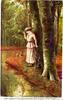 Дама. У пруда. 1917 год.