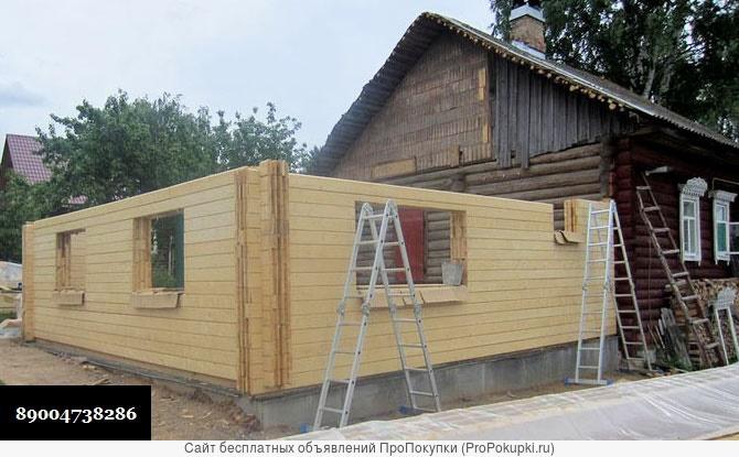 Как пристроить пристрой из бруса к деревянному дому своими руками фото