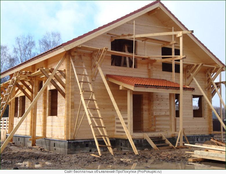 строительство из сруба и щитовых домолв
