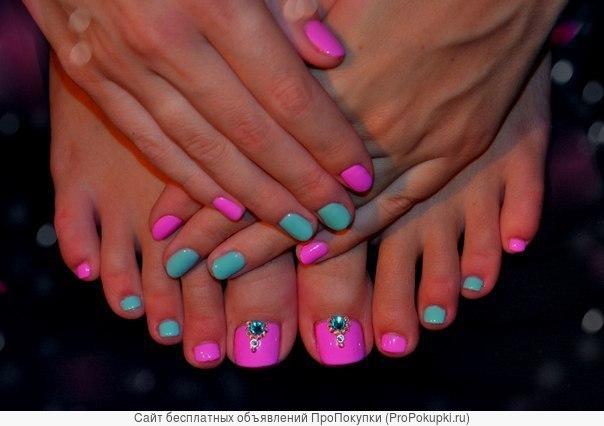 Дизайн ногтей шеллак руки и ноги новинки