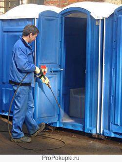 Обслуживание биотуалетных кабин.