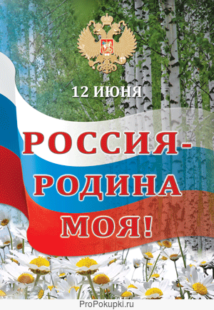 Плакат ко дню россии