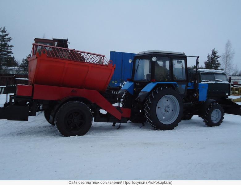 Пескоразбрасыватель прицепной для трактора V-3 куб.м
