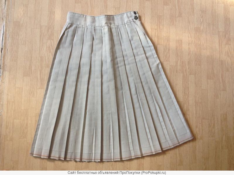 юбки импортные в мелкую складку, юбка кожаная черная, юбка шерстяная