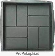 формы для тротуарной плитки 8 кирпичей 40х40х5см