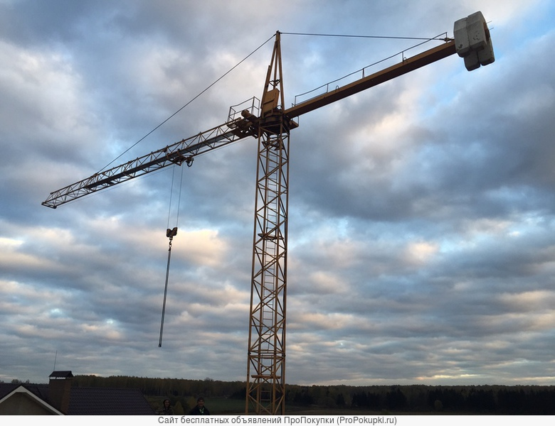 Кран башенный для строительства котеджей