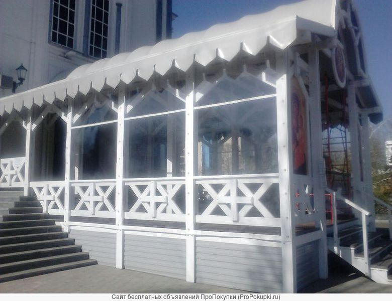 Защитные шторы для террас, веранд, беседок
