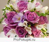 оформление живыми цветами