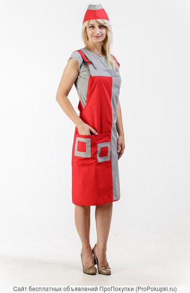Фартук женский, одежда для сфер обслуживания