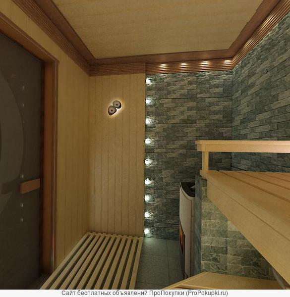 строим сауны и бани подключ