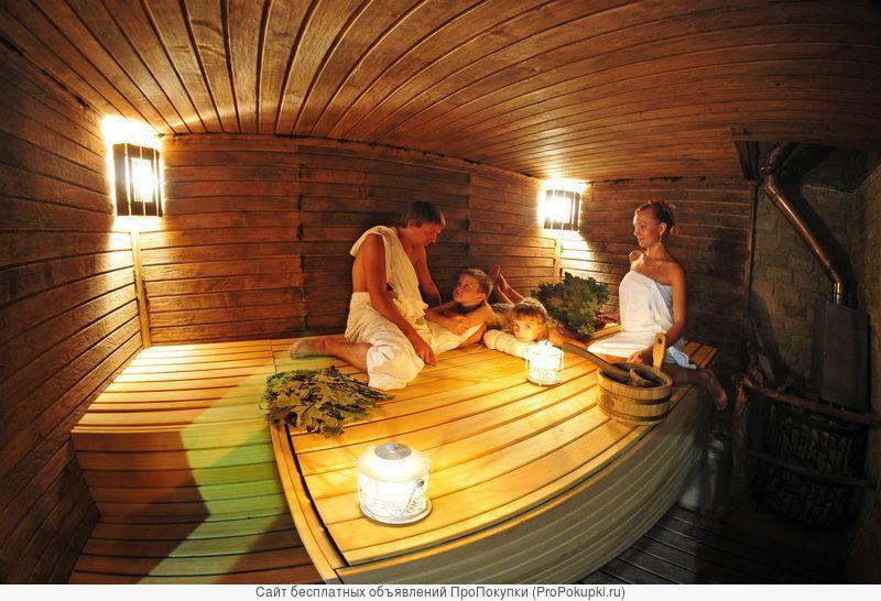 Русская баня с бассейном