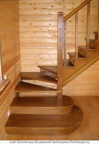 Деревянные лестницы, двери на заказ