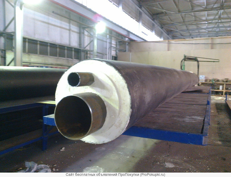 Теплоизоляцию труб ППУ от 57 мм до 1020 мм ПЭ/ОЦ оболочке