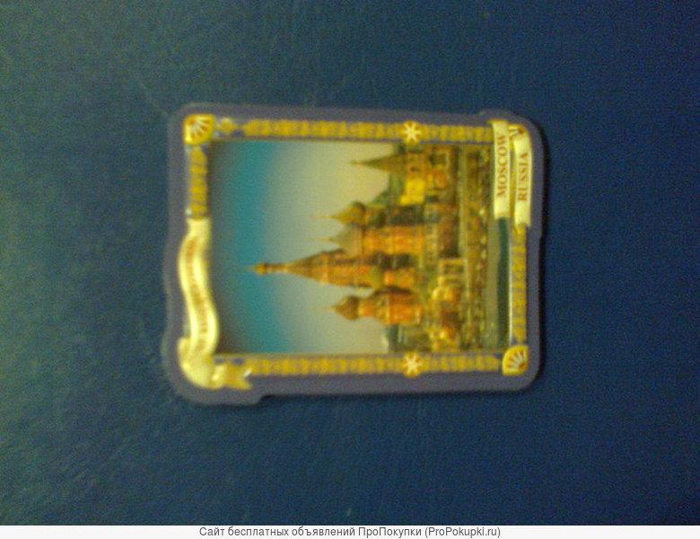 Магнит 3D сувенирный с видами Москвы