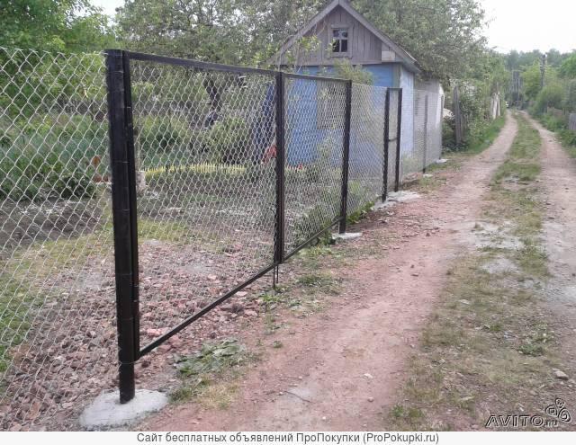 Ворота из сетки рабица в челябинске