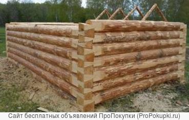 Срубы из Бурзянского района сосновые под бани любого размера.В наличии и под заказ