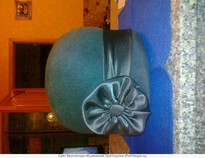 шапка фетровая женская