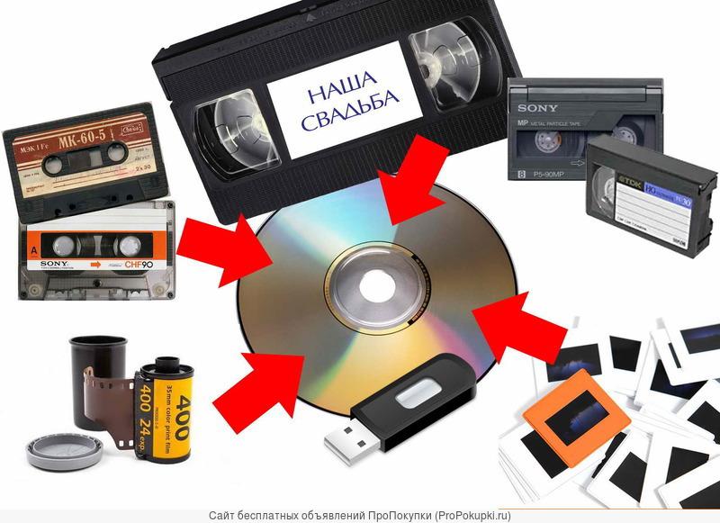 Оцифровка видео-аудио кассет,фотопленок и слайдов