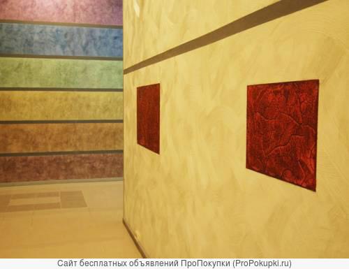 Красим потолки, стены, рогожку