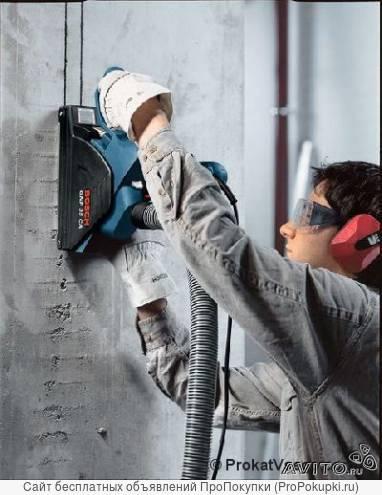 Аренда (прокат) инструмента Bosch - Штроборез GNF 35 CA, пылесос GAS 25.