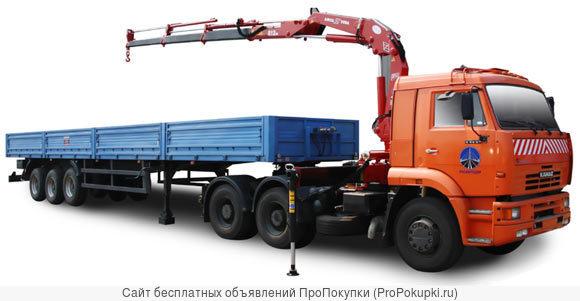 Аренда Манипулятора 20 тонн полуприцеп