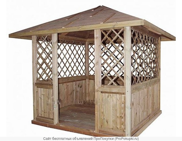 Киоск из дерева для торговли, хозблок - в сборе
