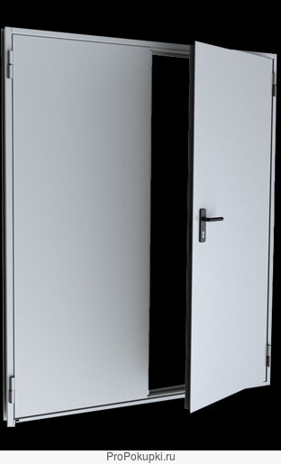двухстворчатые металлические двери стальная защита