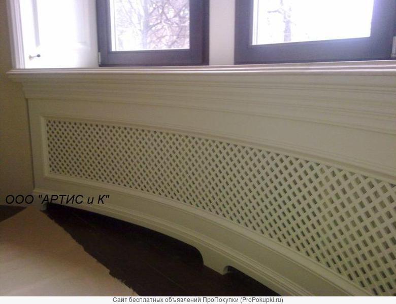 Декоративные решетки заказать на радиатор с резным декором