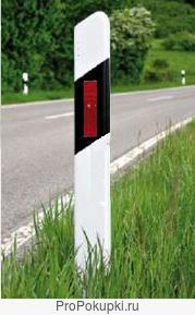 Столбик дорожный сигнальный пластиковый ГОСТ Р 50970, 1500 мм.