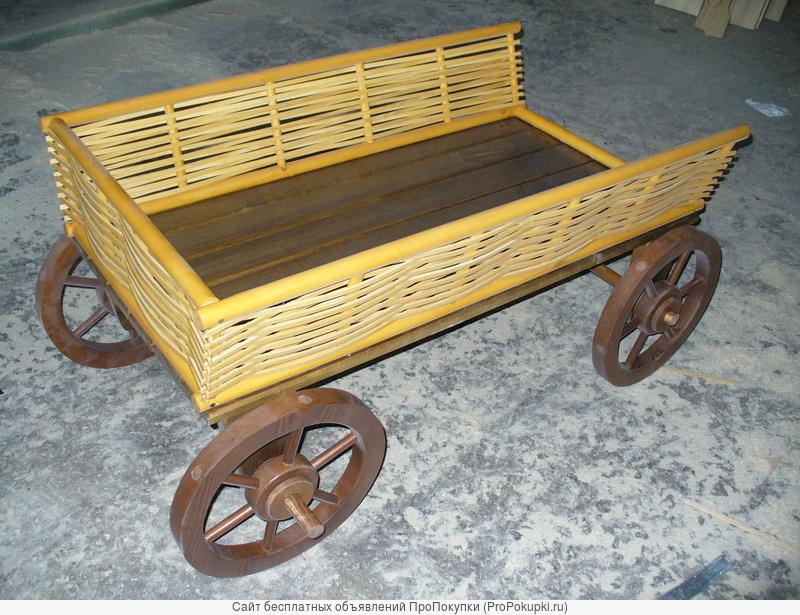 Продаю телегу декоративную деревянную