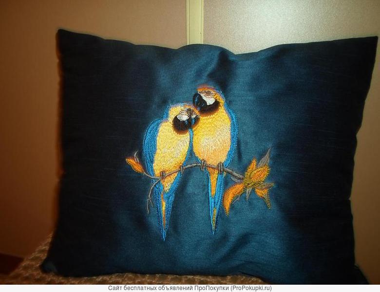 Подушки декоративные с машинной вышивкой с доставкой