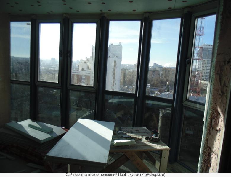 Утепление. теплые лоджии, витражи. балконы ,остекление любой сложности в один контур