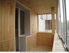 Отделка внутренняя балкона вагонкой и МДФ