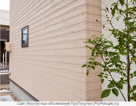 Отделка фасадов фасадными панелями под кирпич, камень, дерово