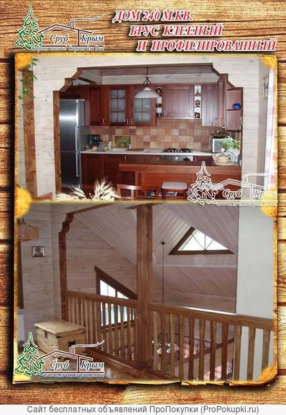 Возвести дом из сруба клееного 240 м² в Крыму