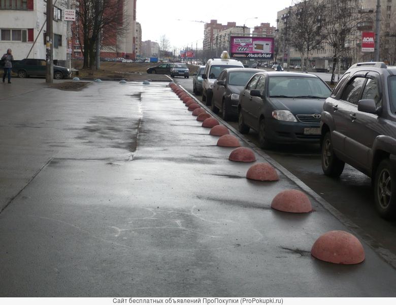 загрождения бетонные- полусферы