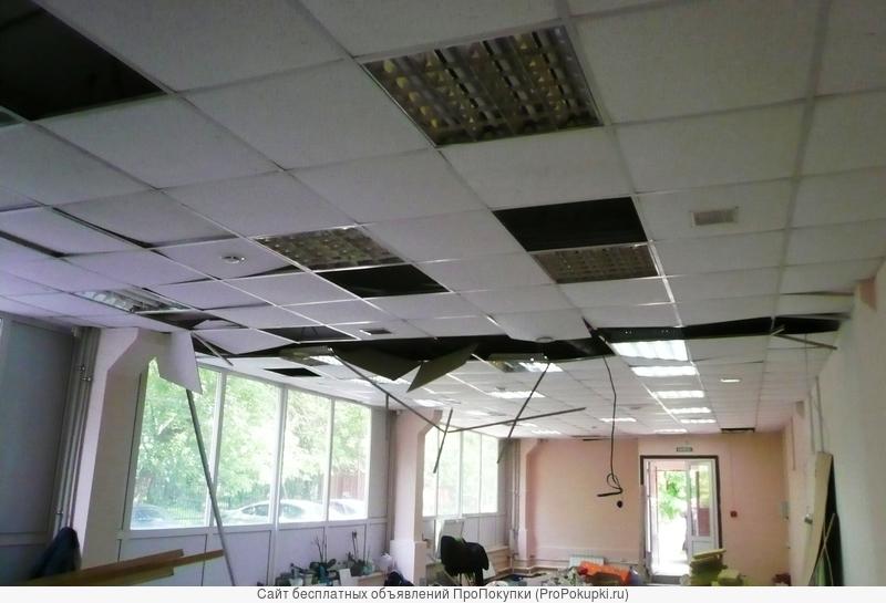Ремонт, восстановление геометрии потолков армстронг