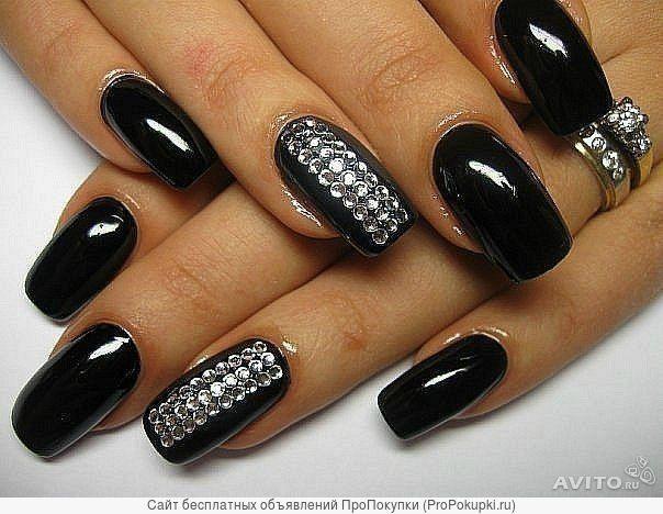 Черные ногти новинки