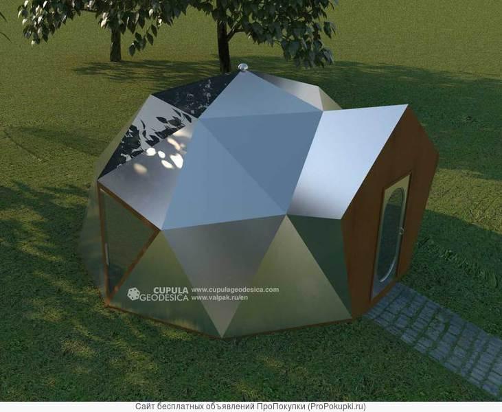 Невозгораемый Купольный Дом 32 м2 с электростанцией 3 кВт