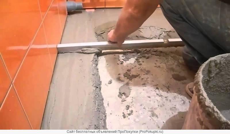Как сделать стяжку пола под плитку