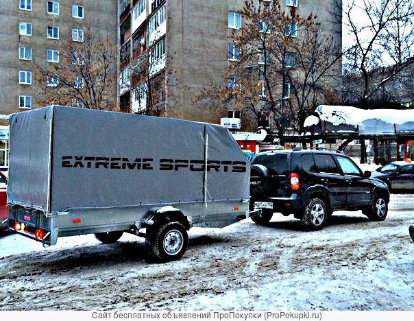 Перевозка снегоходов и квадроциклов на прицепе