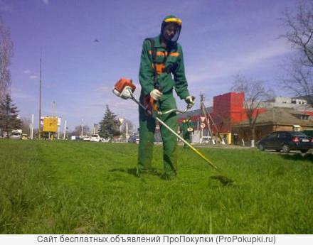 Покос травы, вывоз мусора