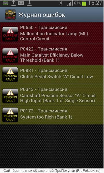Автосканер ELM327 OBD2 Диагностика